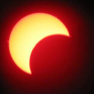 Partial solar eclipse by Mike Dryland
