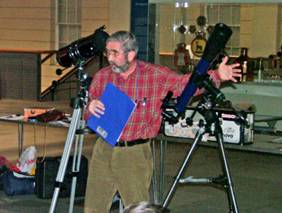 Dr John Griffiths at the Flamsteed Telescope Workshop by Mike Dryland